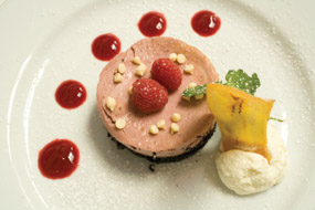 Rasberry Chocolate Cheesecake